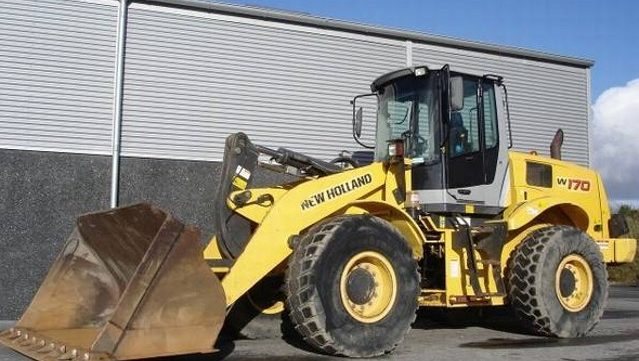 New Holland We150 W170 Compact Wheeled Excavator    We170c
