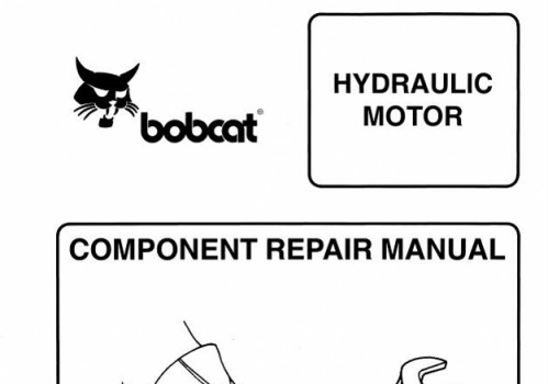 Bobcat Hydrostatic Motor Component Service Repair Manual – SERVICE