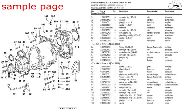 Massey Ferguson 253 263 Tractors Gb Service Parts Catalogue Manual Part Number 819774 Service Repair Manual